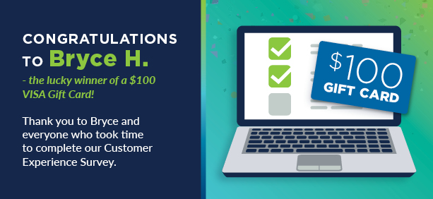 Thank you to all who took our customer experience survey